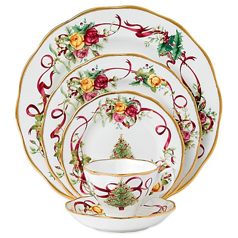 Royal Albert Old Country Roses Christmas Tree 5 Piece