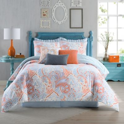 Buy Reversible Comforter and Sham Set from Bed Bath & Beyond : coral bed quilt - Adamdwight.com