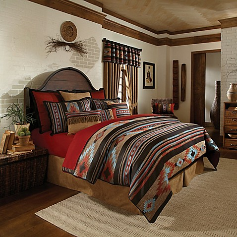Veratex santa fe 4 piece comforter set bed bath beyond - Bed bath and beyond bedroom furniture ...