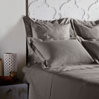 Frette At Home Creta Standard Pillow Sham in Stone