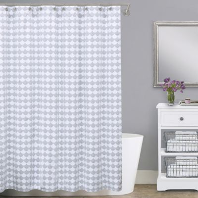 Lamont HomeTM Finley Extra Wide Cotton Shower Curtain