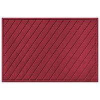 Weather Guard™ 30-Inch x 45-Inch Argyle Door Mat in Red/Black