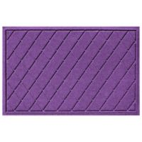 Weather Guard™ 23-Inch x 35-Inch Argyle Door Mat in Purple