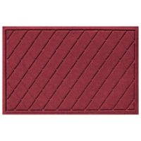 Weather Guard™ 23-Inch x 35-Inch Argyle Door Mat in Red/Black