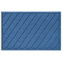 Weather Guard™ 23-Inch x 35-Inch Argyle Door Mat in Medium Blue