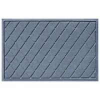 Weather Guard™ 23-Inch x 35-Inch Argyle Door Mat in Blue Stone