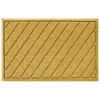 Weather Guard™ 23-Inch x 35-Inch Argyle Door Mat in Yellow