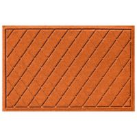 Weather Guard™ 23-Inch x 35-Inch Argyle Door Mat in Orange