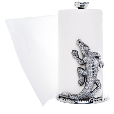 Arthur Court Alligator Paper Towel Holder