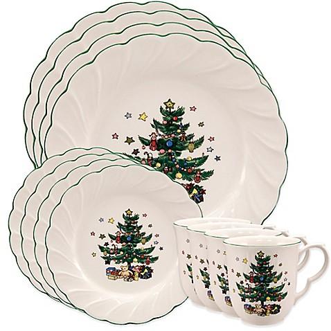 Nikko Ceramics Happy Holidays 12-Piece Dinnerware Set  sc 1 st  Bed Bath \u0026 Beyond & Nikko Ceramics Happy Holidays 12-Piece Dinnerware Set - Bed Bath ...
