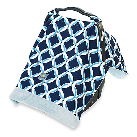 itzy ritzy cozy happens infant car seat canopy and tummy time mat in social circle blue. Black Bedroom Furniture Sets. Home Design Ideas