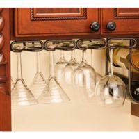 Rev-A-Shelf® 11-Inch Quad Under Cabinet Stemware Holder in Oil Rubbed Bronze