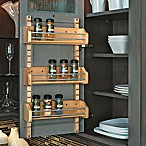 Rev-A-Shelf - 4ASR-18 - Medium Cabinet Door Mount Wood Adjustable 3-Shelf Spice Rack