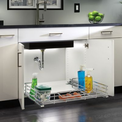 organize bathroom cabinet under sink buy sink storage from bed bath amp beyond 23891