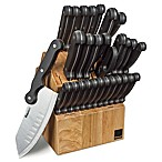 Ronco® Six Star+™ 30-Piece Cutlery Set with Knife Block