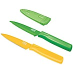 Kuhn Rikon Colori Citrus 2-Piece Paring Knife Set in Green/Yellow