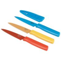 Kuhn Rikon Colori 3-Piece Paring Knife Set in Red/Yellow/Blue