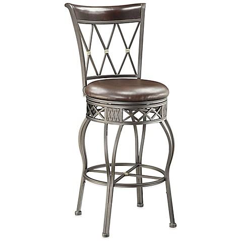 Pulaski Fairport Convertible Metal Bar Stool In Brown