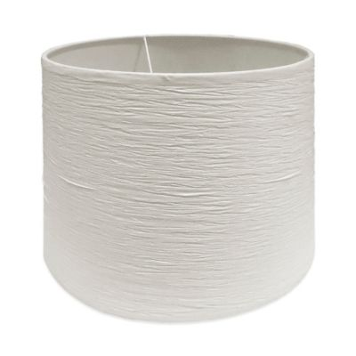 Buy medium lamp shade from bed bath beyond mix match medium 13 inch crinkle paper hardback drum lamp shade in white audiocablefo