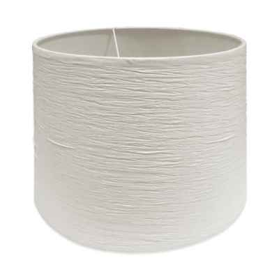 Mix & Match Medium 13-Inch Crinkle Paper Hardback Drum Lamp Shade in White