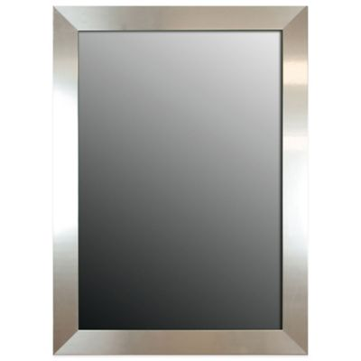 hitchcock butterfield 27 inch x 37 inch decorative wall mirror in stainless silver