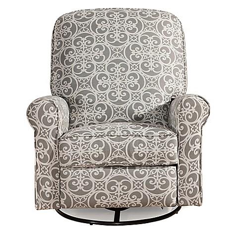 Pulaski Glider Recliner Comfort Chair In Doodles Ash Bed