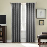 Athena Rod Pocket Blackout 95-Inch Window Curtain Panel in Grey