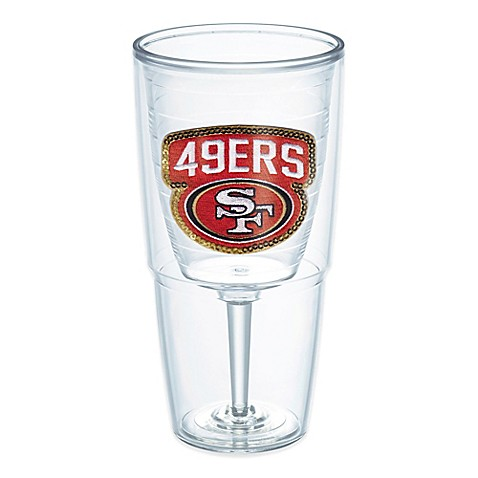 Tervis nfl san francisco 49ers sequin 16 oz goblet bed for 49ers bathroom decor