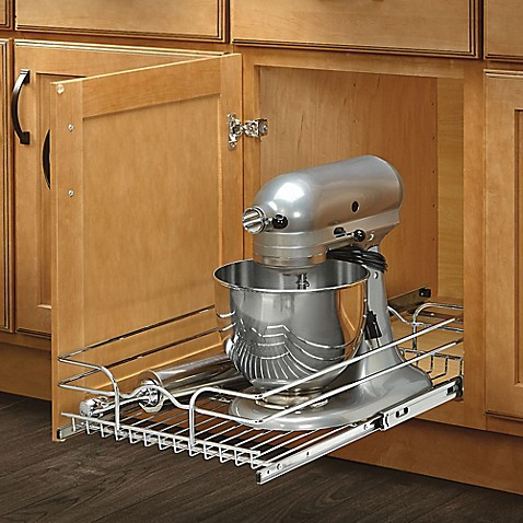 pull out wire shelves for kitchen cabinets rev a shelf 174 single tier pull out wire basket bed bath 24997