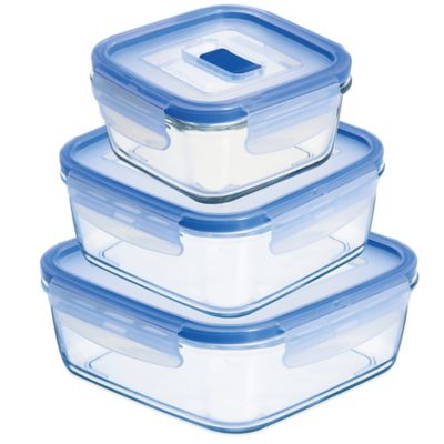 Luminarc Pure Box Active Square Container with Lid Bed Bath Beyond