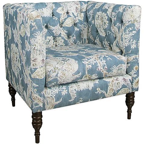 Ordinaire Skyline Furniture Tufted Arm Chair In Millie Marine