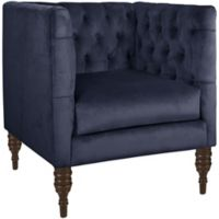Skyline Furniture Tufted Arm Chair in Mystere Eclipse