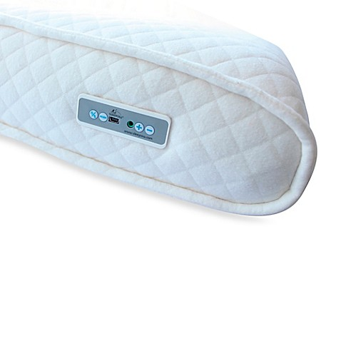 Sleepow memory foam pillow with sound machine and mp3 for Bathroom noise maker