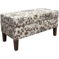 Skyline Furniture Trendy Storage Bench in Silisla Rhinestone