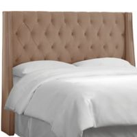 Skyline Furniture Tufted Wingback California King Headboard in Velvet Cocoa