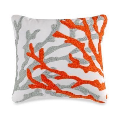 fiesta key coral throw pillow - Coral Decorative Pillows