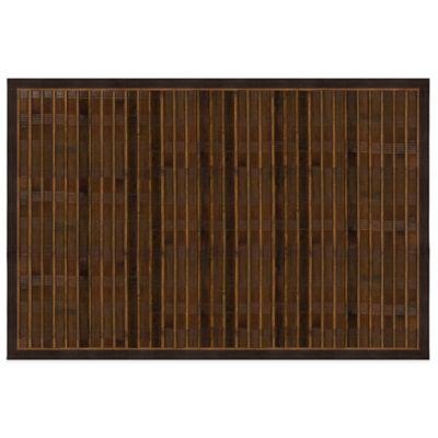 Attractive Bamboo 4 Foot X 6 Foot Floor Mat In Brown