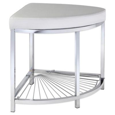 taymor urban modern corner vanity stool