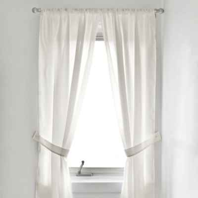 Fabric Bath Window Curtain Panel Pair