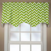 Reston Scalloped Window Valance in Lime