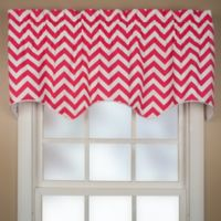 Reston Scalloped Window Valance in Pink