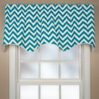 Reston Scalloped Window Valance in Turquoise