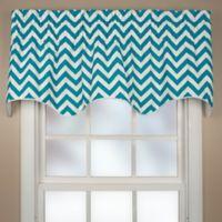 Reston Scalloped Window Valance in Turquoise