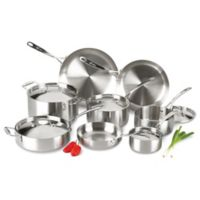 Lagostina Axia 13-Piece Tri-Ply Stainless Steel Cookware Set