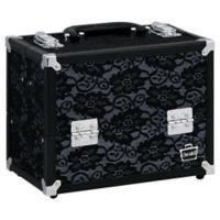 Caboodles® Medium Train Case in Black Lace