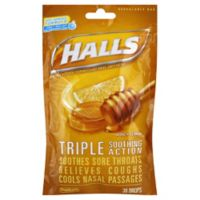 Halls 30-Count Mentholyptus Cough Drops in Honey Lemon