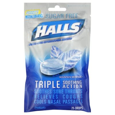 buy halls 25 count sugar free cough drops in black cherry from bed bath beyond. Black Bedroom Furniture Sets. Home Design Ideas