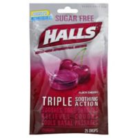 Halls 25-Count Sugar-Free Cough Drops in Black Cherry
