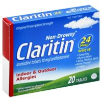 Claritin® Indoor & Outdoor Allergies 20-Count 24-Hour Tablets