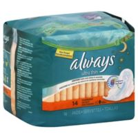 Always® Ultra Thin Flexi-Wings 14-Count Overnight Pads